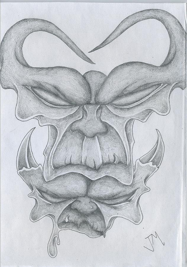 Image result for pencil drawings of devils