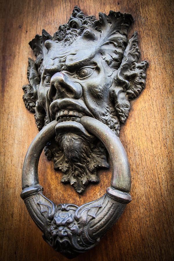 Devil Head Door Knocker Photograph By Paolo Modena
