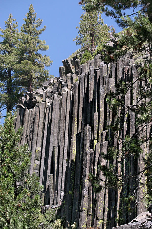 Devils Postpile National Monument - Mammoth Lakes - East California Photograph