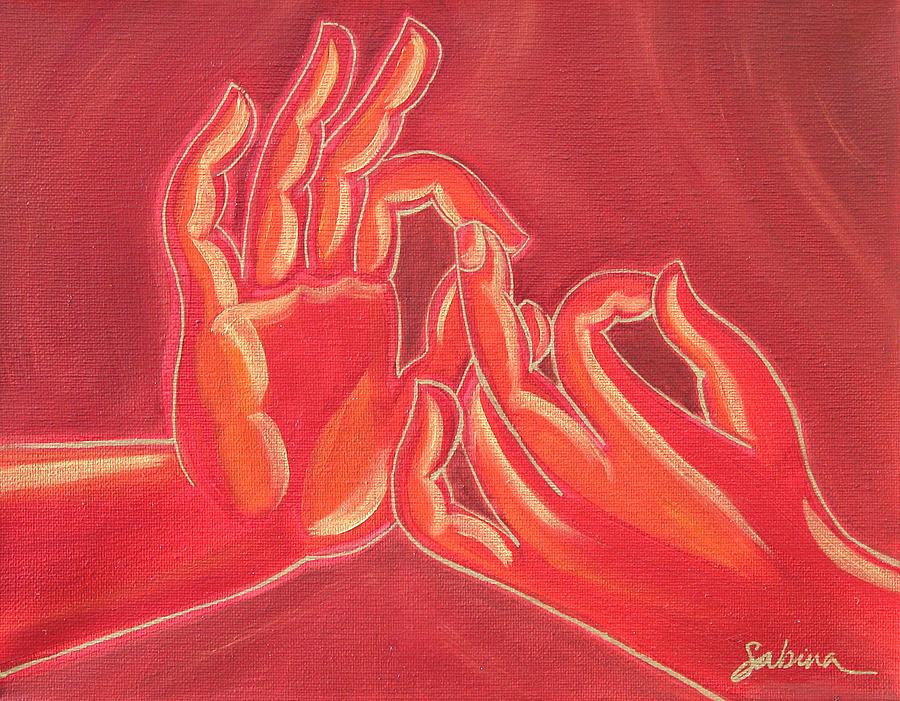 Dharmachakra Mudra Painting