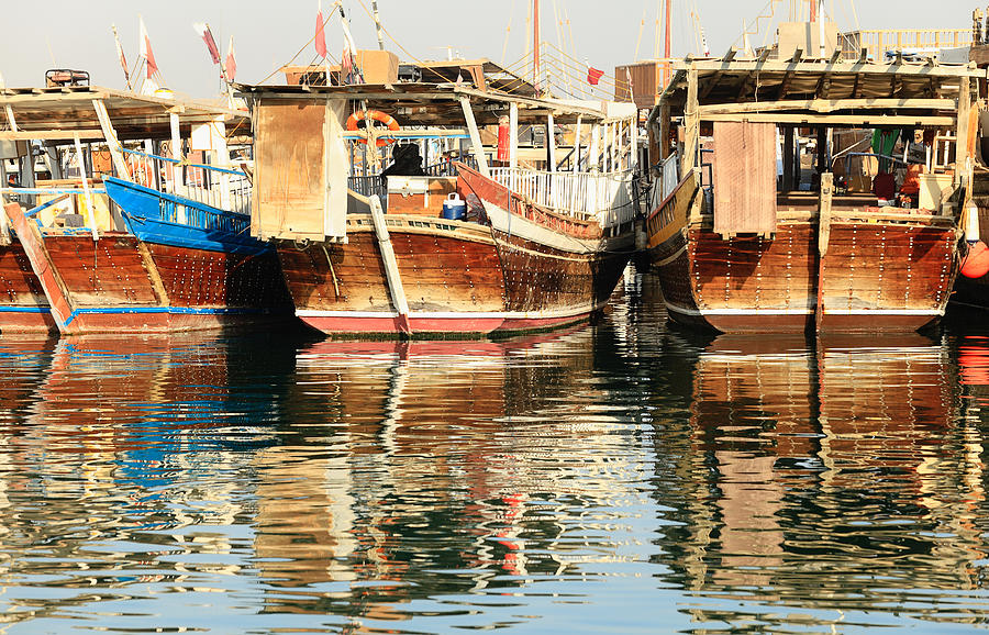 Dhow Reflections Photograph  - Dhow Reflections Fine Art Print