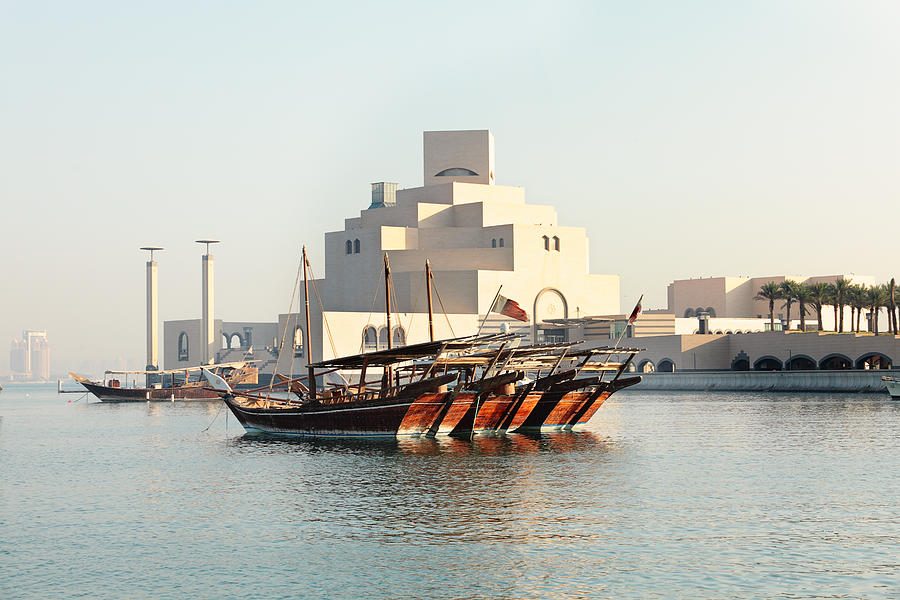 Dhow Photograph - Dhows And Museum by Paul Cowan