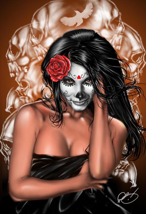Dia De Los Muertos Remix Painting