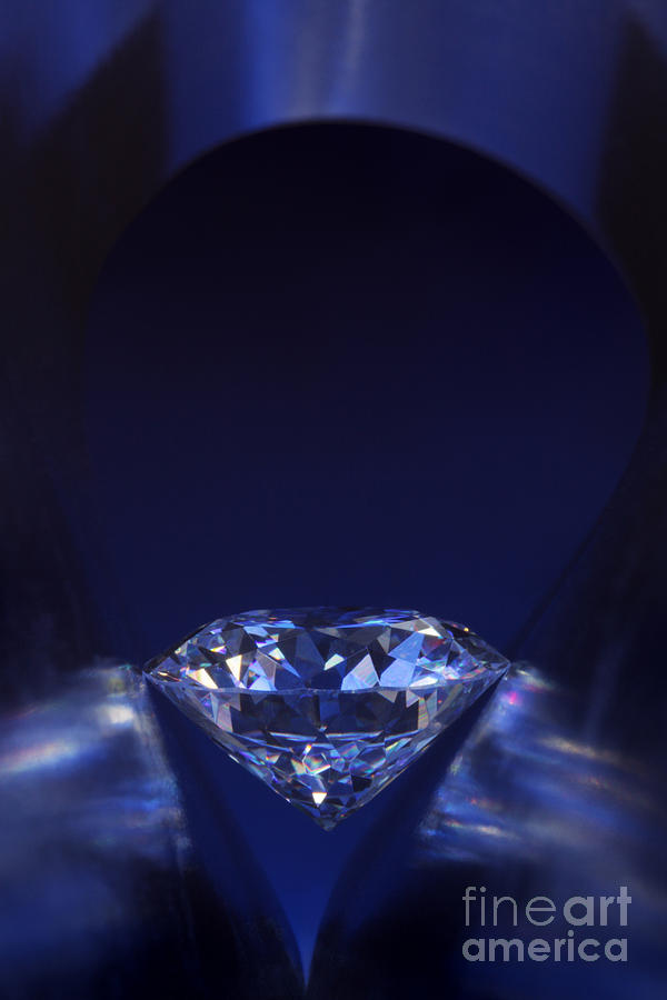 Diamond In Deep-blue Light Jewelry