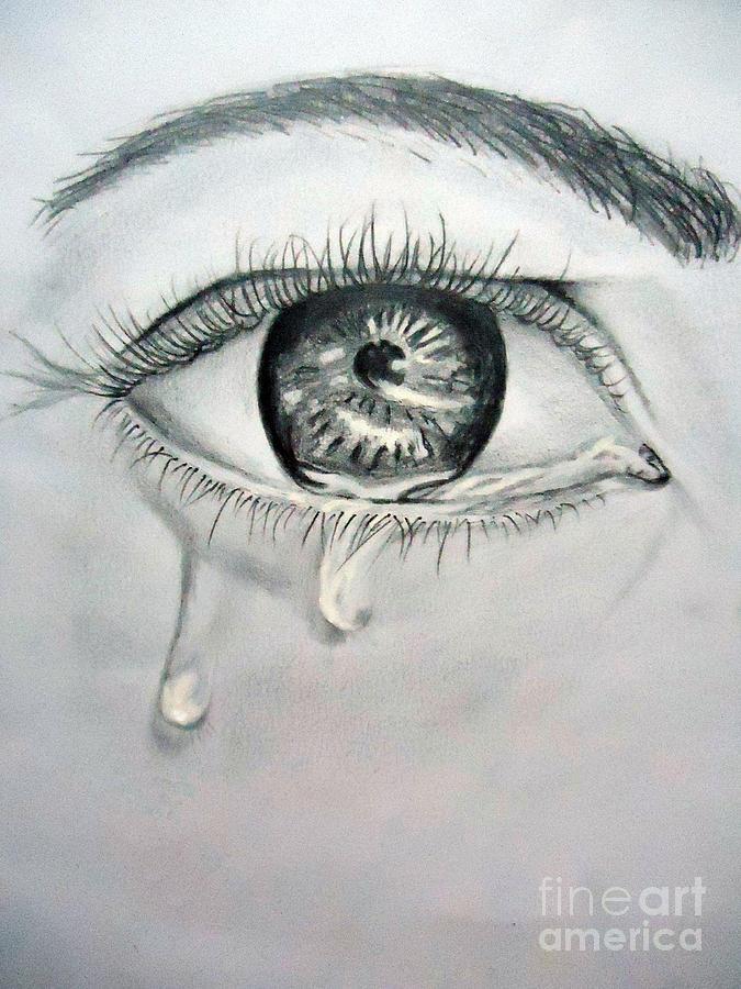 Sad eyes with tears boy drawing – cbru