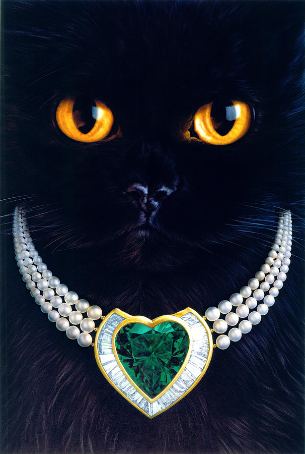 Diamonds Are A Cats Best Friend Photograph  - Diamonds Are A Cats Best Friend Fine Art Print