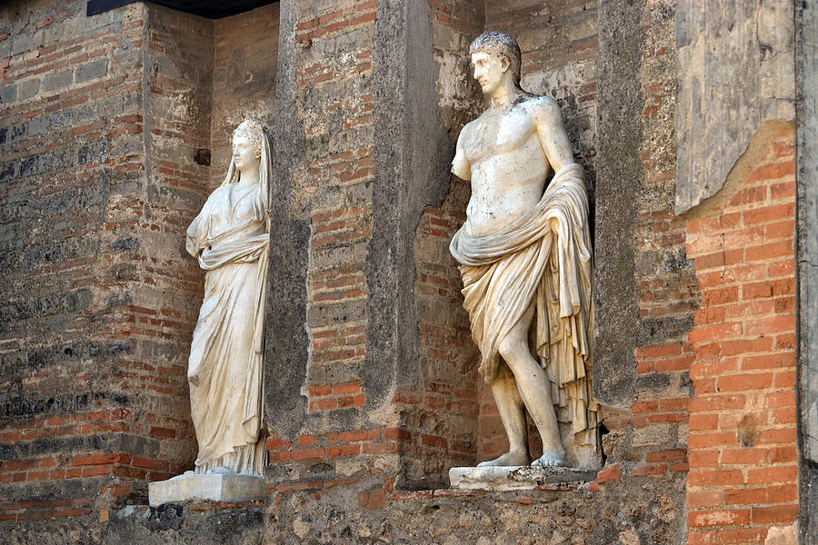 Statues Photograph - Diana And Apollo. by Terence Davis