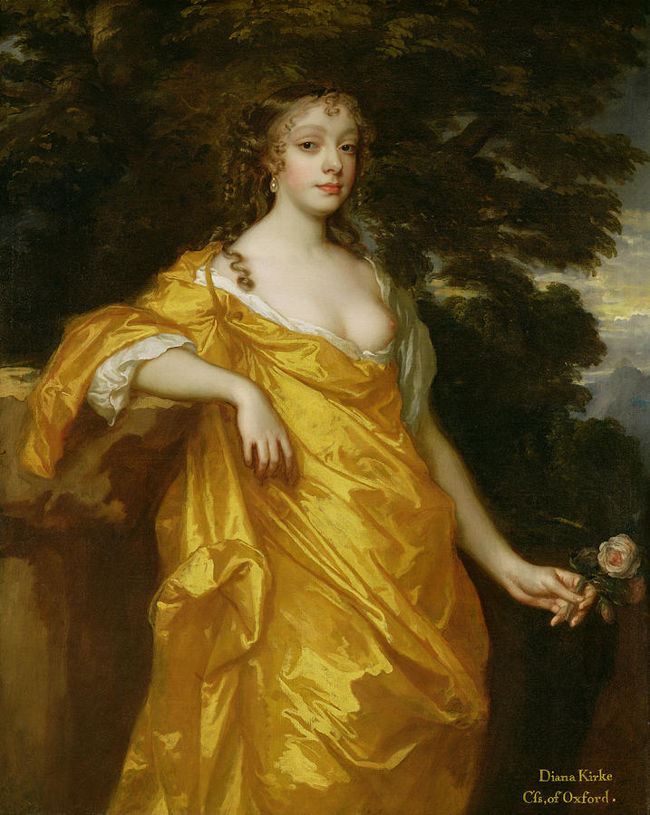 Diana Kirke-later Countess Of Oxford Painting  - Diana Kirke-later Countess Of Oxford Fine Art Print