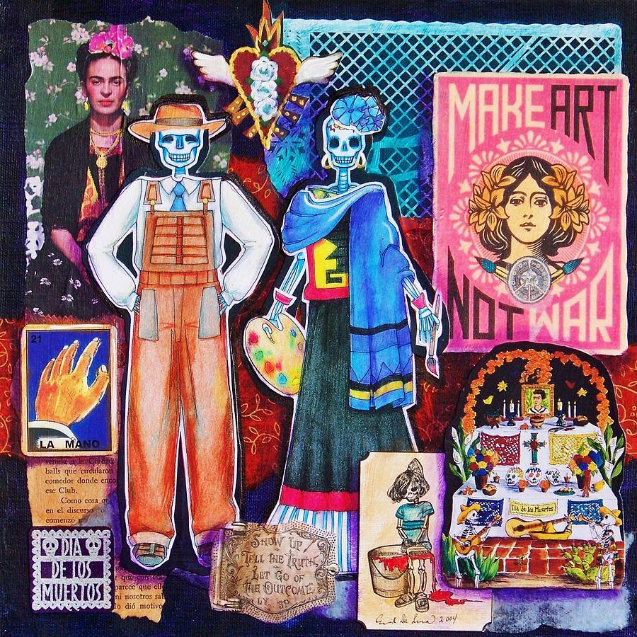 Diego And Frida Mixed Media