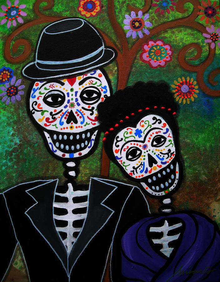 Diego rivera and frida kahlo by pristine cartera turkus for Diego rivera day of the dead mural