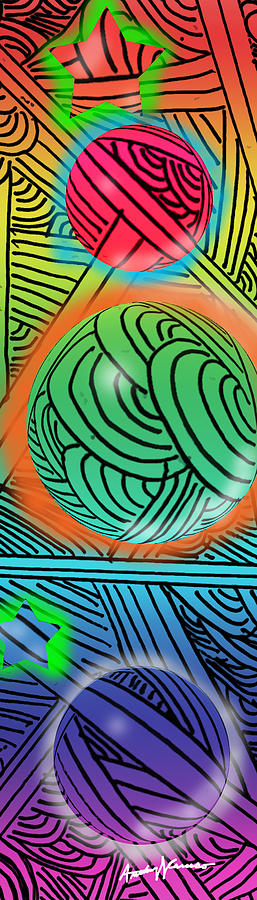 Abstract Digital Art - Digital Doodles by Anthony Caruso