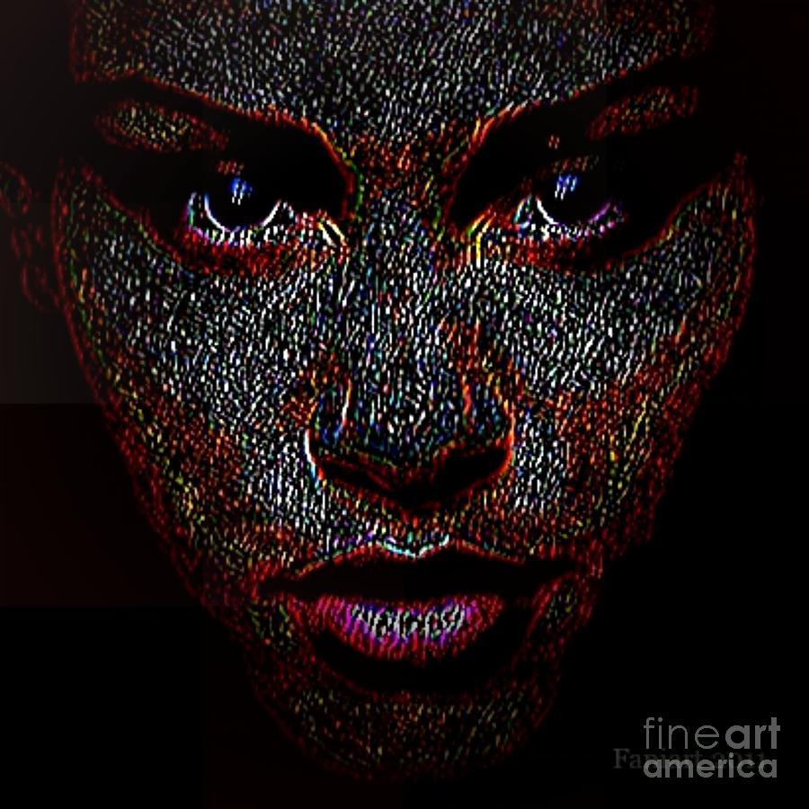 Digital Woman Inspired By A Real God Digital Art By Fania