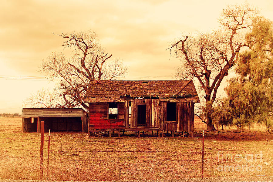 Dilapidated Old Farm House . 7d10341 Photograph  - Dilapidated Old Farm House . 7d10341 Fine Art Print