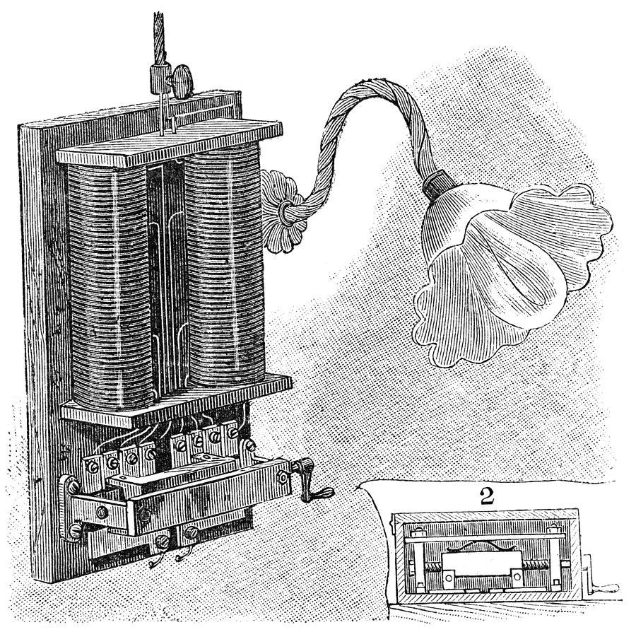 Dimmer Lamp Electrics, 19th Century Photograph