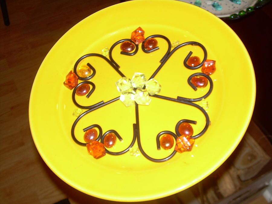 Dinner Plate Flowers Glass Art