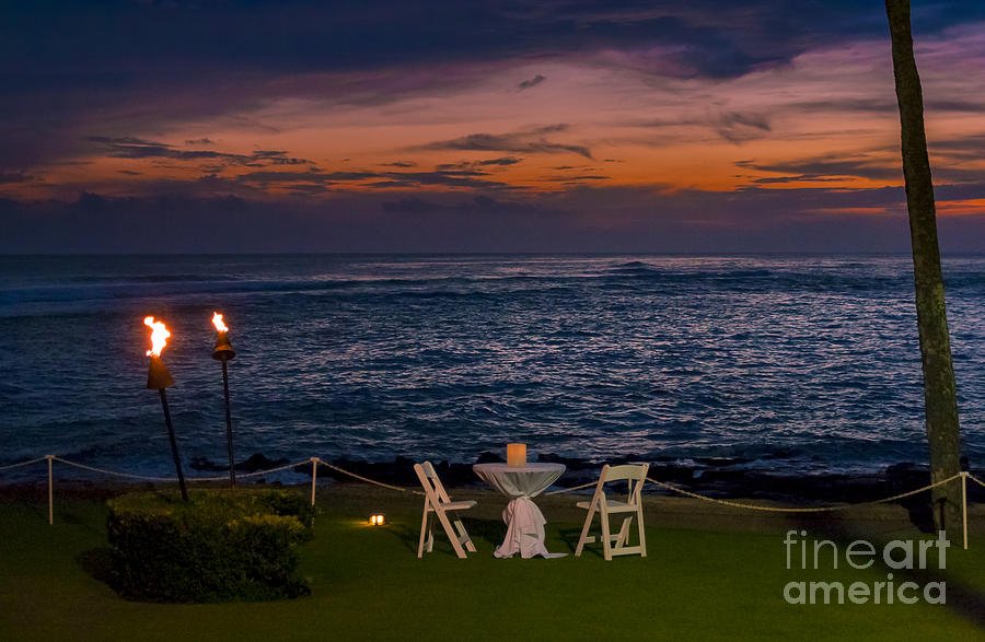 Dinner Setting In Paradise Photograph  - Dinner Setting In Paradise Fine Art Print