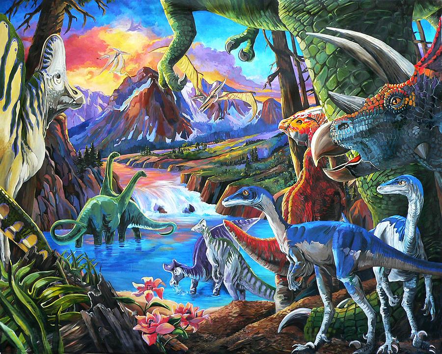 Dinosaur by Nadi Spencer: fineartamerica.com/featured/dinosaur-nadi-spencer.html