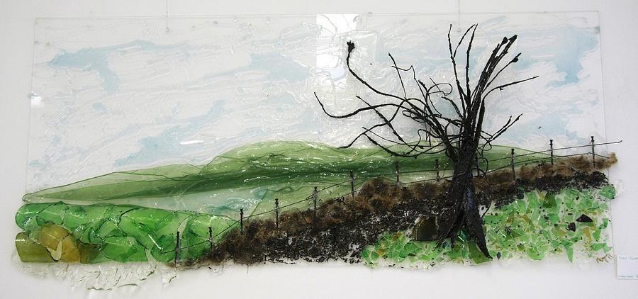 Tree Relief - Dirt Road by Mariann Taubensee