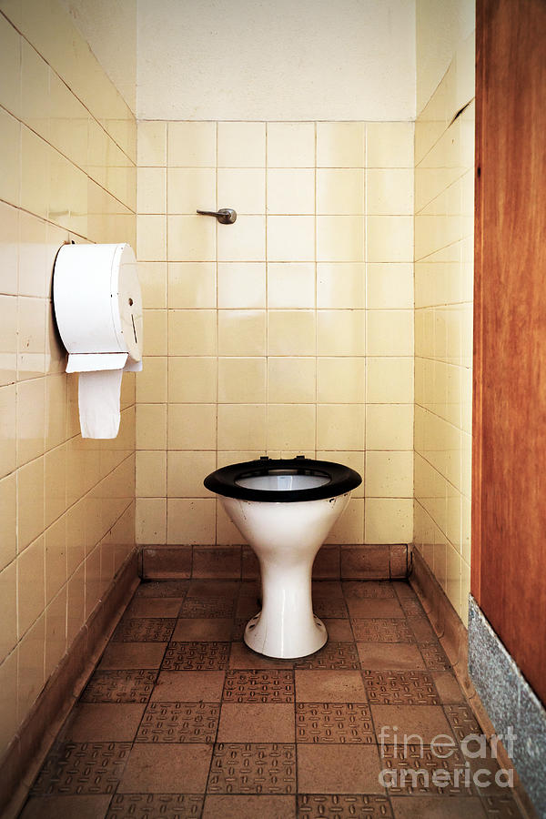 Dirty Public Toilet Photograph  - Dirty Public Toilet Fine Art Print