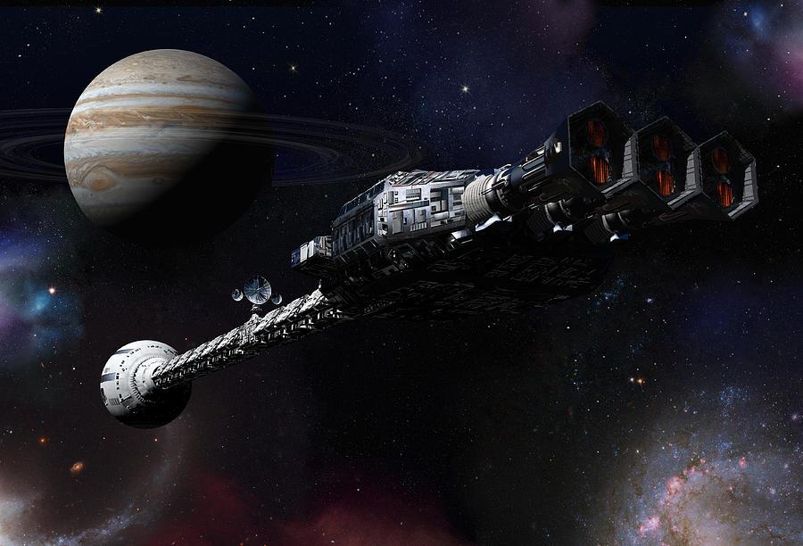 Discovery Near Jupiter Digital Art