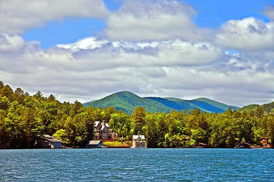 Lake Photograph - Distant Lake View In Spring by Susan Leggett