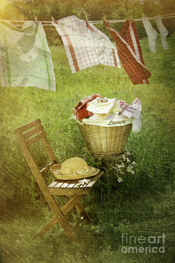 Distressed Photo Of Wash Day Photograph