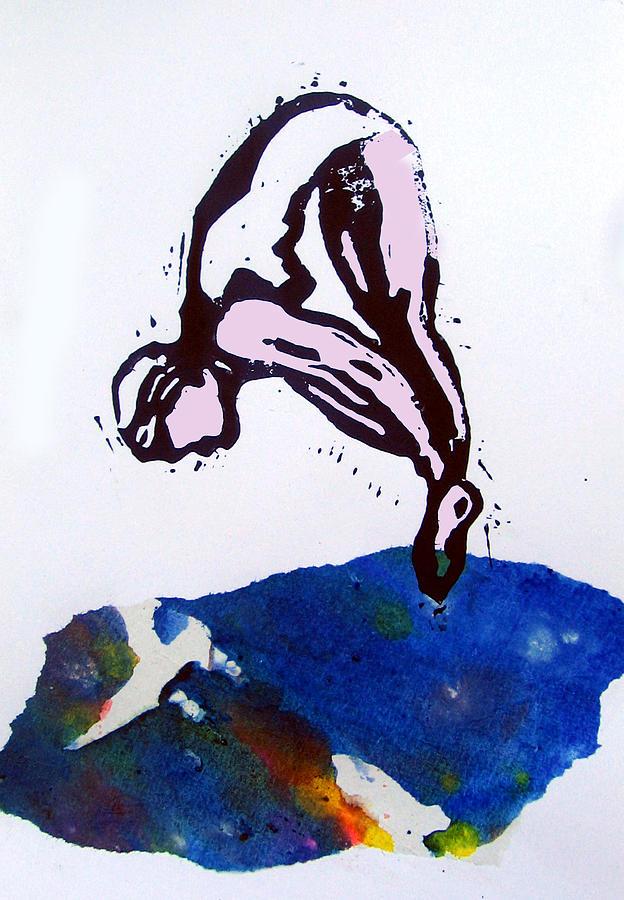 Dive - Sunlit Sea Mixed Media