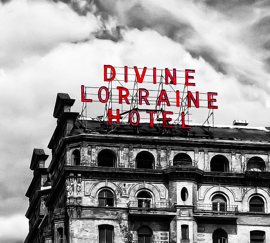Divine Lorraine Hotel Marquee Photograph