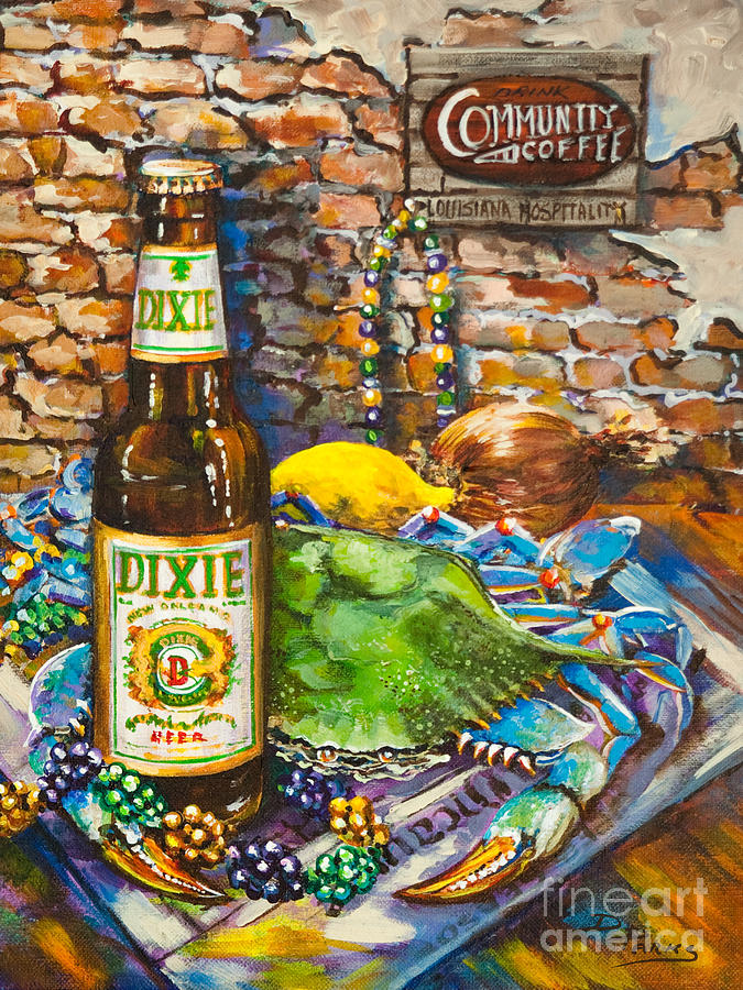 Dixie Love Painting  - Dixie Love Fine Art Print
