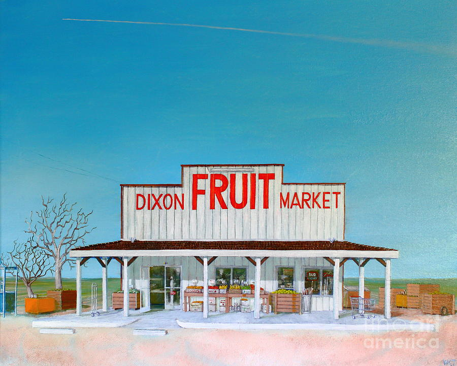 Dixon Fruit Market 1992 Painting
