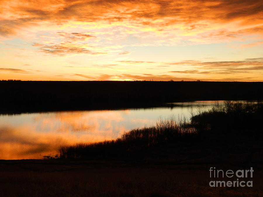 Dixon Reservoir Sunrise Photograph