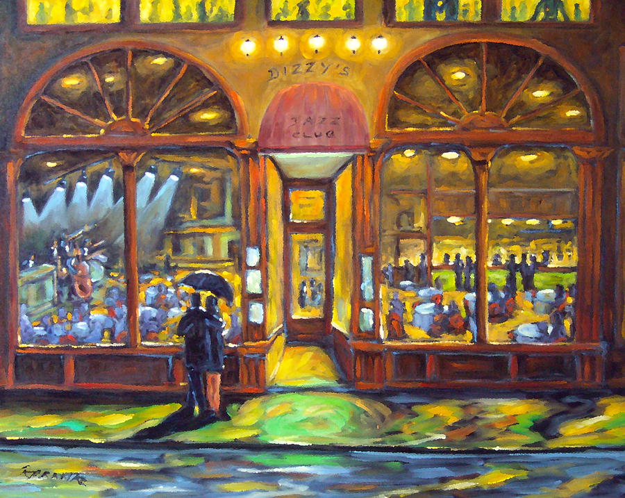 Dizzy S Jazz Club Painting  - Dizzy S Jazz Club Fine Art Print