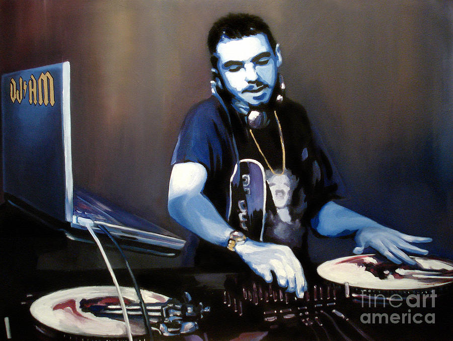 Dj Am Painting  - Dj Am Fine Art Print