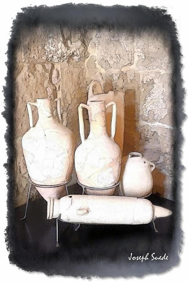 Do-00485 Old Jars Digital Art