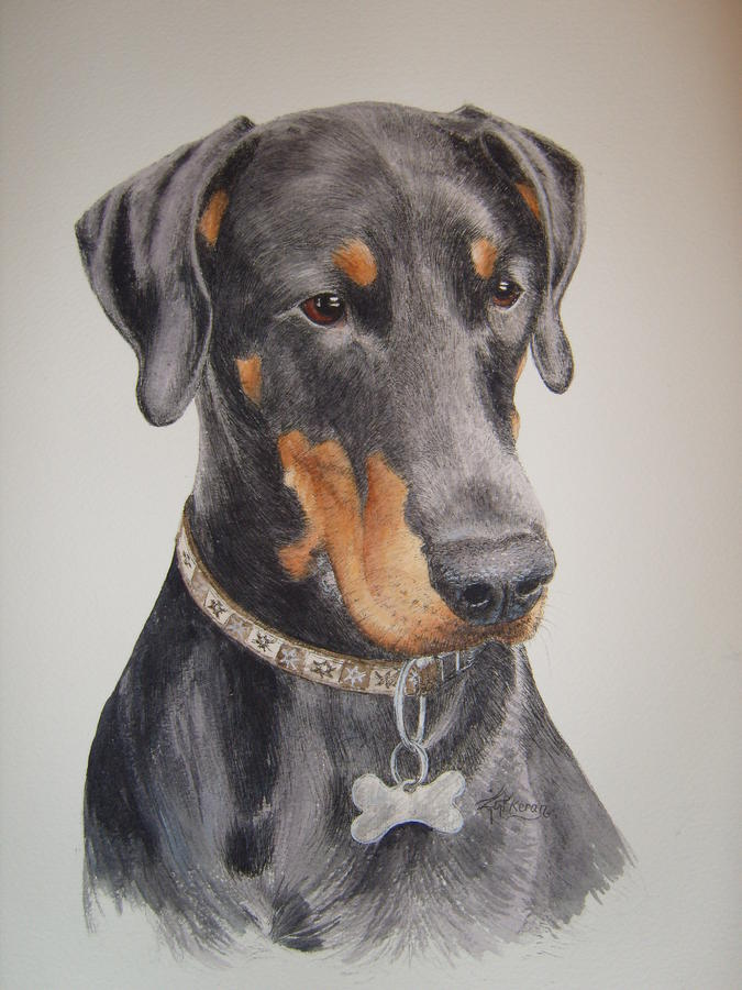 Dobermann Painting