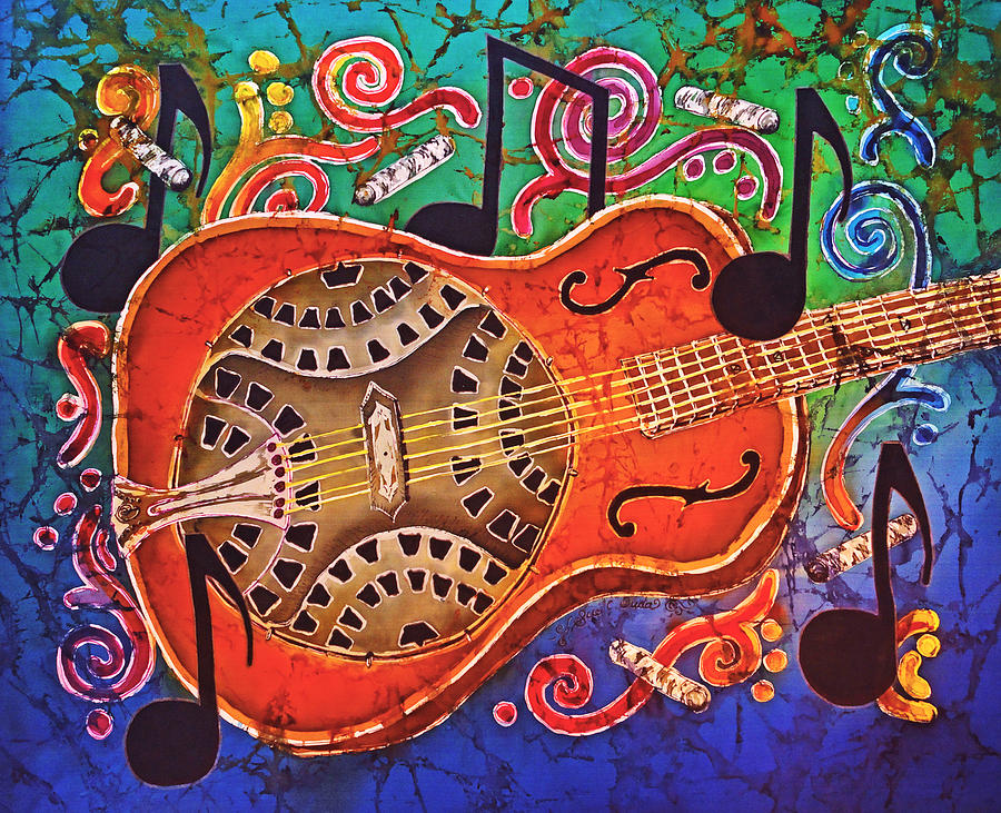 Dobro - Slide Guitar Painting  - Dobro - Slide Guitar Fine Art Print