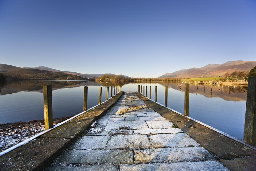 Dock In A Lake, Cumbria, England Photograph  - Dock In A Lake, Cumbria, England Fine Art Print