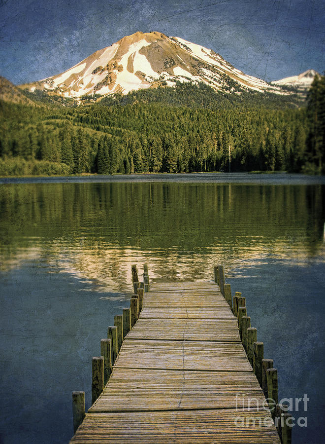 Dock On Mountain Lake Photograph