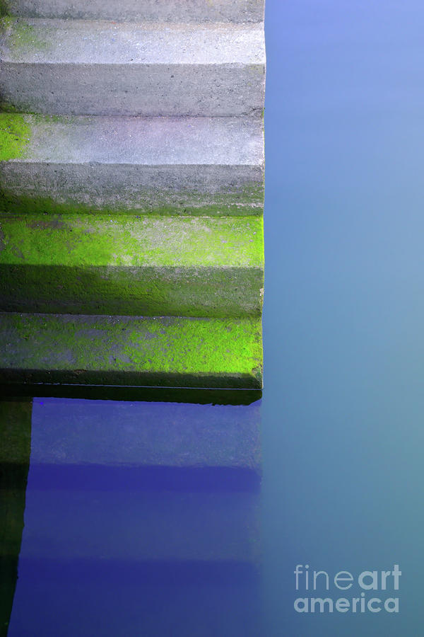 Dock Stairs Photograph  - Dock Stairs Fine Art Print