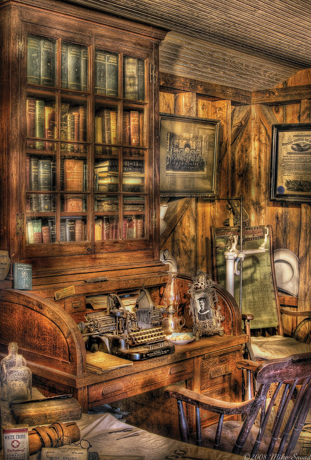 Doctor - The Doctors Desk Photograph  - Doctor - The Doctors Desk Fine Art Print