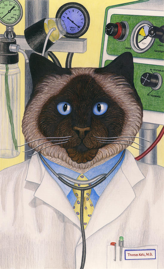 Doctor Cat Painting