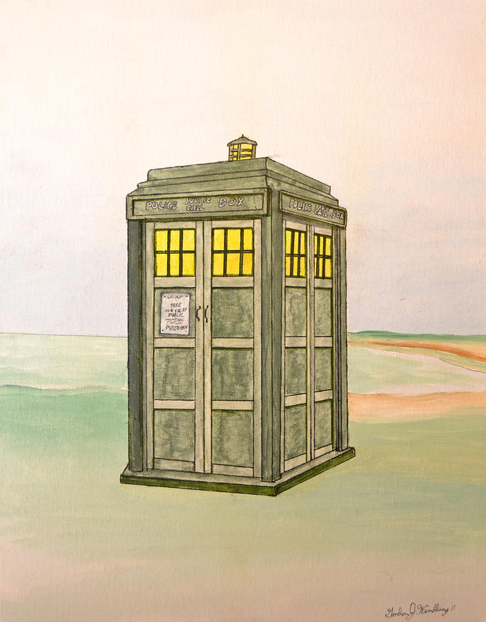 Doctor Who Tardis Painting  - Doctor Who Tardis Fine Art Print