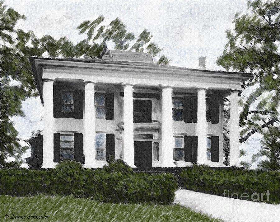 Dodd House Georgia Plantation Digital Art