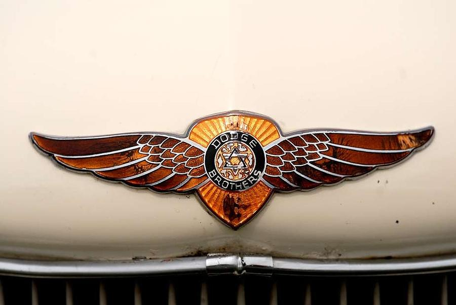 Dodge Brothers Emblem Photograph  - Dodge Brothers Emblem Fine Art Print