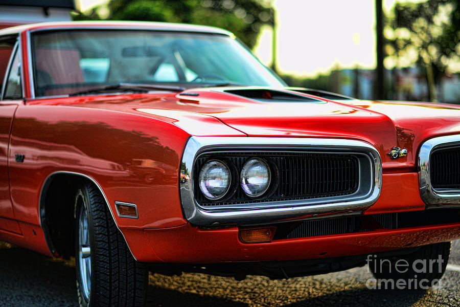 Dodge Super Bee Classic Red Photograph  - Dodge Super Bee Classic Red Fine Art Print