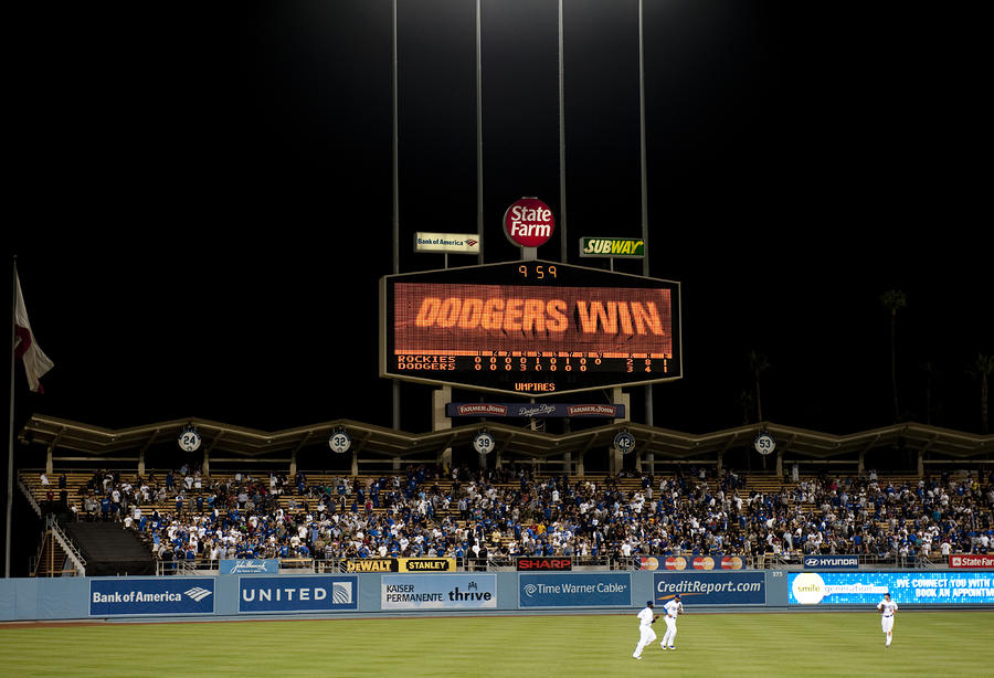 Dodgers Win Photograph