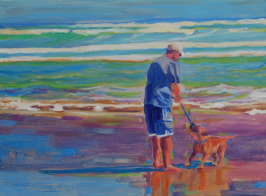 Dog Beach Play Painting