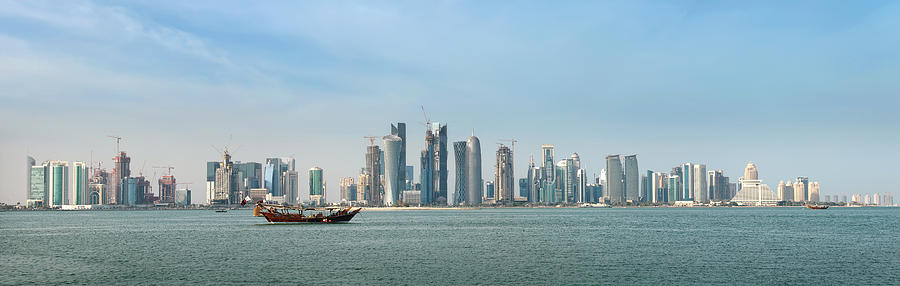 Doha Skyline Feb 2012 Photograph  - Doha Skyline Feb 2012 Fine Art Print