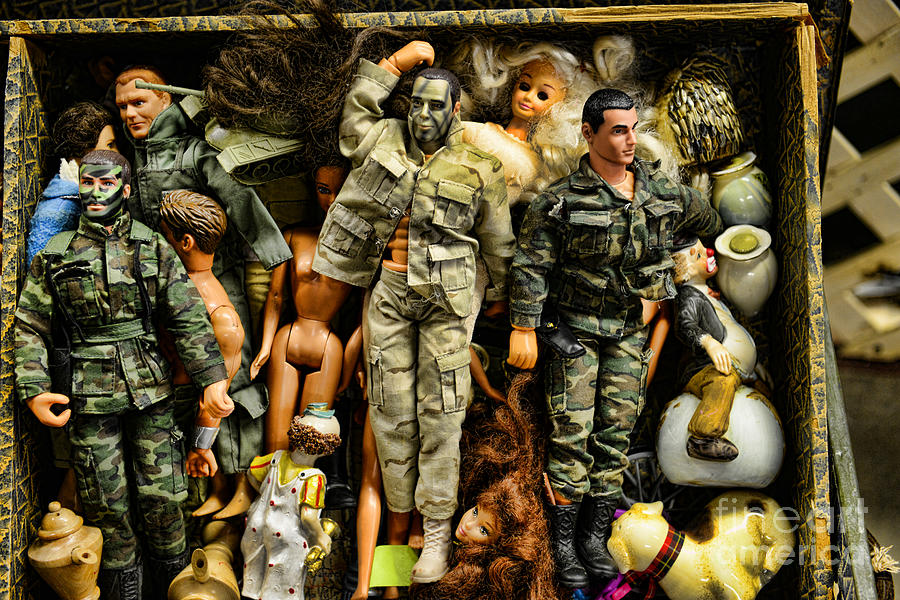 Doll - Gi Joe In Camo Photograph  - Doll - Gi Joe In Camo Fine Art Print