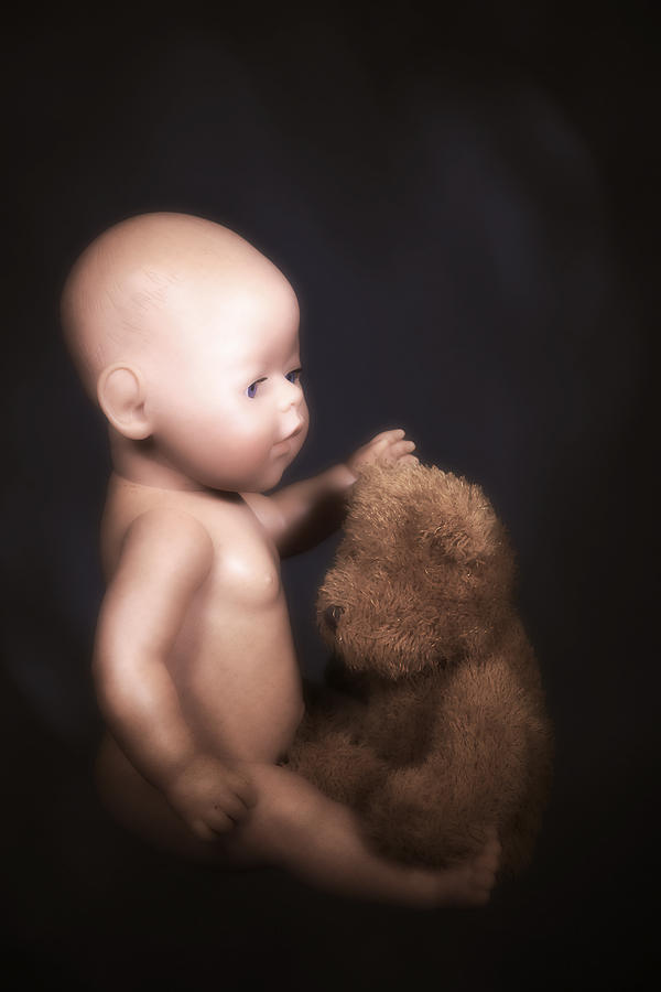 Teddy Photograph - Doll And Bear by Joana Kruse